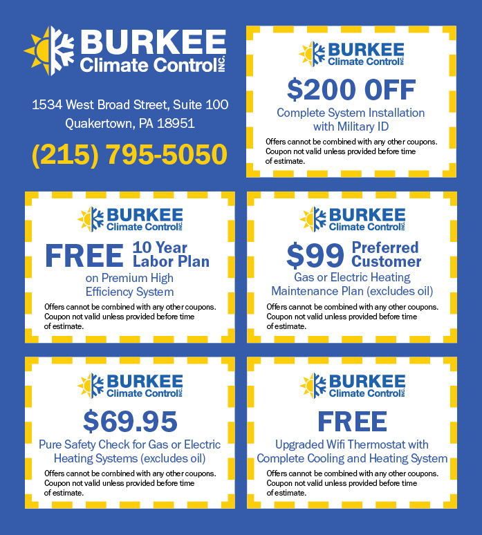 Burkee Climate Control Specials